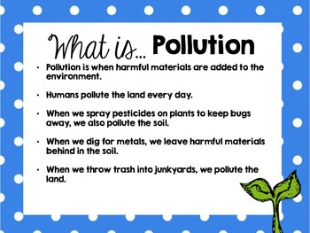 Conserving Resources & 3 R's Powerpoint + Pollution Lab
