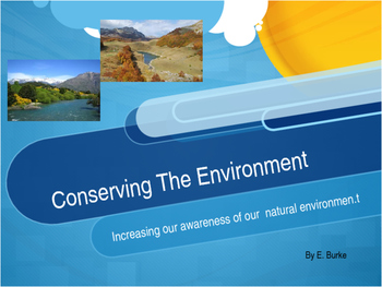 Conserving The Environment