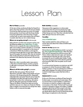 Conserving Water Lesson Plan