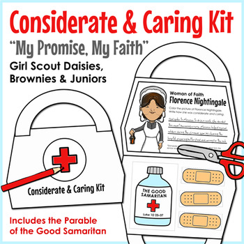 """Considerate & Caring Kit - Girl Scouts - """"My Promise, My Faith"""" Pin - All Steps!"""