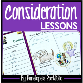CONSIDERATION Lessons and Activities - Character Education