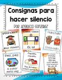 Consignas para hacer silencio (Attention grabbers SPANISH)