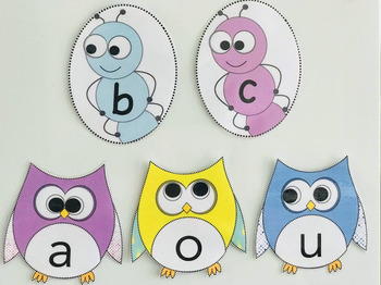 Conson-Ants! and Vowel Owls! Bundle!-Homeschool, Classroom