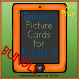 Consonant Articulation Cards No Print | Digital BUNDLE
