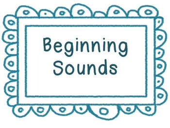 Consonant Beginning Sunds