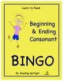 Beginning & Ending Consonant Bingo (LTR)