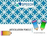 Consonant Blend Articulation Pencils