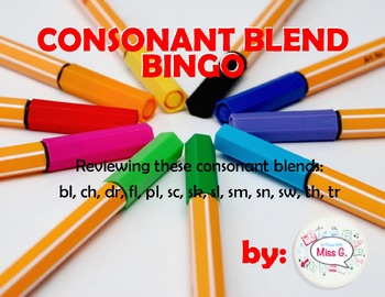 Consonant Blend Bingo