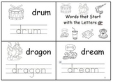 Consonant Blend Cut-Out Books With Handwriting Practice