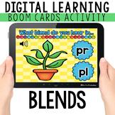 Consonant Blend Digital Task Cards for distance learning-B