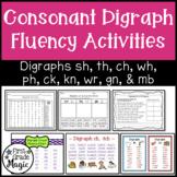 Consonant Digraph Fluency Activities