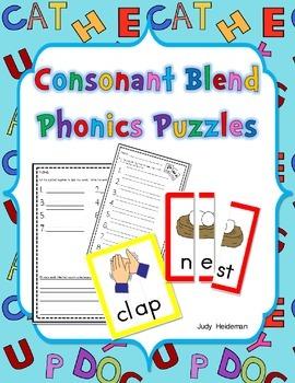 Consonant Blend Phonics Puzzles
