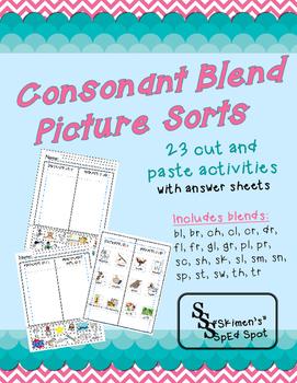 Consonant Blend Picture Sort