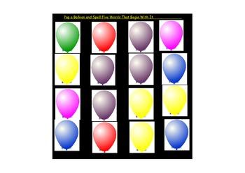 Consonant Blend Scavenger Hunt Balloon Pop