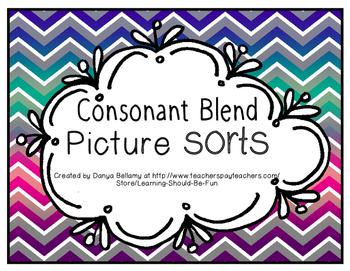 Consonant Blend Sorts
