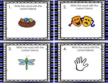 Consonant Blend Task Cards