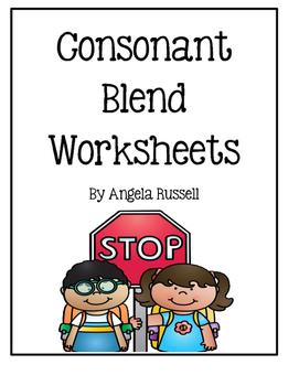 Consonant Blend Worksheets