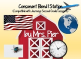 Consonant Blend l Station (Compatible with Journeys Second Grade Lesson 5)