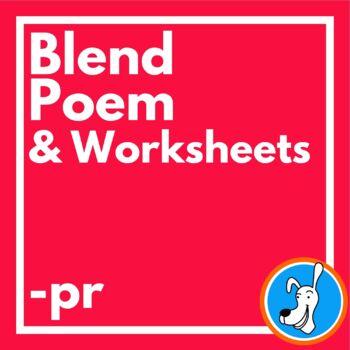 Blends: Consonant Blend /pr/ Phonics Poem and Worksheets