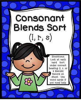 Consonant Blends Literacy Center