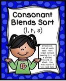 Consonant Blends Sort