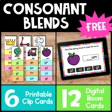Free Phonics Activities- BOOM Cards and Clip Cards for Ini