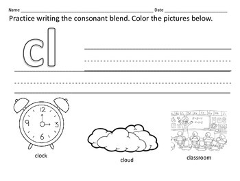 Literacy Centers: Consonant Blends: BL  BR  CL  CR