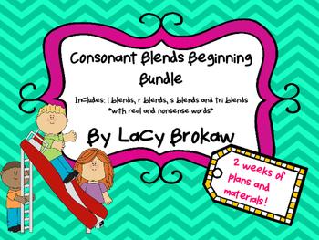 Consonant Blends Beginning BUNDLE r blend, s blend, l blen