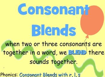 Consonant Blends (Beginning Blends)