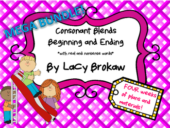 Consonant Blends Beginning and Ending MEGA BUNDLE