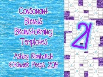 Consonant Blends Brainstorming Templates Bundle