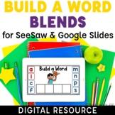 Consonant Blends Build a Word Digital Activities CCVC, CVC