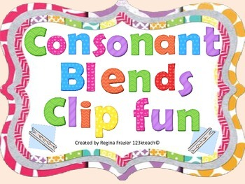 Consonant Blends Clip Fun