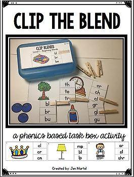 Consonant Blends Clip it Cards (beginning blends, ending blends, trigraphs)
