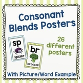 Consonant Blends (Clusters) Posters – Color – With Examples