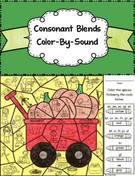 Consonant Blends Color-By-Sound ~ Pumpkin Patch