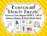 Consonant Blends Common Core Word Work & Literacy Station Game