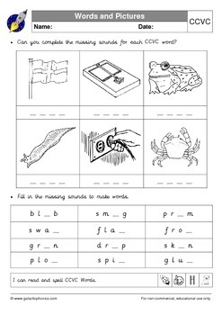Consonant Blends (Consonant Clusters) Pack