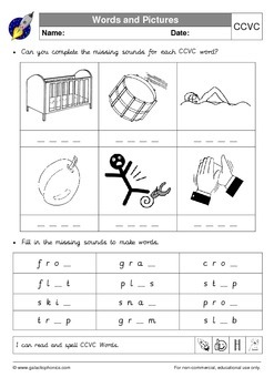 Consonant Blends (Consonant Clusters) Pack