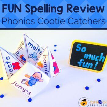 Consonant Blends Cootie Catchers CVCCC CCVCC CCCVC CCVCCC Words