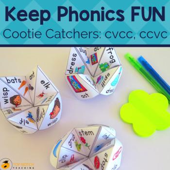Consonant Blends Cootie Catchers VCC CVCC CCVC Words