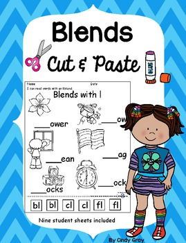 Consonant Blends Cut & Paste Sheets