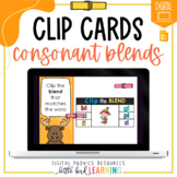 Consonant Blends - Digital Clip Cards | Distance Learning
