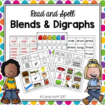 Consonant Blends & Digraphs - Read & Spell With Short Vowels!