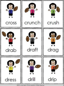 Consonant Blends Football Game