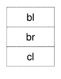 Beginning Consonant Blends Flash Cards - 6 sets