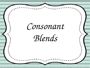 Consonant Blends - PowerPoint - Flashcards