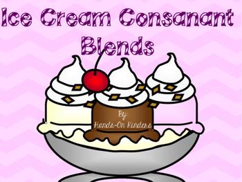 Consonant Blends Ice Cream Theme