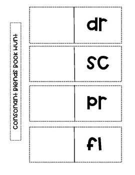 Consonant Blends Interactive Notebook