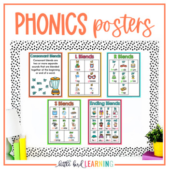 Consonant Blends Interactive Notebook Activities and Posters
